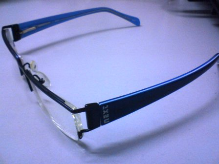 Me new specs! And it's blue.. xD